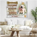 Personalized house rule great everyone with joy poster canvas best gift with custom photo and text for dog lovers Poster