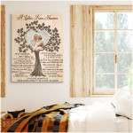 A letter from heaven poem custom name photo poster canvas gift for loss of relative Poster