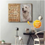 personalized my mind still talks to you At Peace Dog poster canvas best gift with custom name and photo for dog lovers Poster