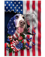 Basset hound proud US flag eagle on independence day poster canvas gift for basset hound lovers dog lovers Poster