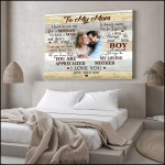 Personalized to my mom i know it is not easy woman to raise a man poster canvas best gift with custom photo and text for mom Poster