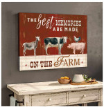 The best memories are made on the farm Animals Poster Gift For Farm Animals Lovers Farming Farmers Poster