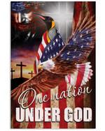 One Nation Under God Penguin Vertical Poster Gift For Penguin Lovers Penguin Moms American Poster