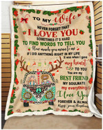 To My Wife Never Forget That I Love You Best Friend Hippie Couples Blanket Gift From Husband To Wife Quilt Blanket