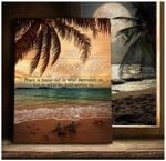 Just Breathe Peace Is Found Not In What Surrounds Us Turtle Beach Poster Gift For Turtles Beach Lovers God Believers Poster