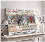 Personalized Because Someone We Love Is In Heaven poster canvas memorial gift with custom photo and text for love ones Poster