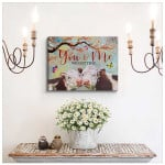 You and me We got this Farm Cows Butterlies poster gift for cows lovers couples wedding anniversary Poster