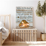 Personalized When it is too hard to look back Rustic Wood Version poster canvas best gift with custom photo for dog lovers Poster