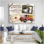 I have found the one my soul loves personalized pickup truck anniversary poster canvas gift for couple with custom names photo & date Poster