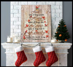 Faith makes all things possible hope love family red caridnals at Chirstmas poster canvas gift for loved family Poster