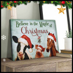 Believe In The Magic Of Christmas Horse Pig Cow Farm Animals Poster gift for Animals Farm Lovers Farmhouse Owners Farmers Poster