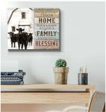 Farm Farmhouse Angus Cows Canvas Having both is a blessing Wall Art Decor poster canvas best gift for farmer Poster