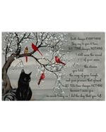 Death changes everything they say to give it time Black Cat Poster Memorial Gift For Loss Of Cats Poster