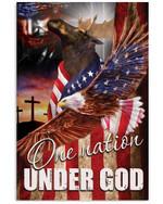One Nation Under God Moose Vertical Poster Gift For Moose Lovers Moose Moms American Poster