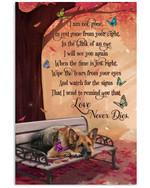 Love Never Dies German Shepherd Butterflies Vertical Poster Memorial Gift For Loss Of German Shepherd Poster