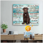 My mind still talks to you miss you so much personalized memorial poster canvas gift for loved pet with custom photo & name Poster