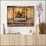 Personalized Window The road to my heart poster canvas best gift with custom photo and text for dog lovers Poster