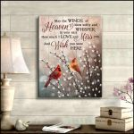 Winds of Heaven How Much I Love And Miss You Cardinals Pussy Pillow Poster Memorial Gift For Loss Of Loved Someone Poster