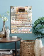 Office Canvas Wall Decor In This Office Wall Art Decor poster canvas best gift for office Poster