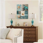 Life Is Better At The Beach Turtle Canvas Poster gift for Turtles Lovers Beach Lovers Poster