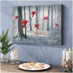 Those We Love do not go away they fly beside us Wall Art Decor poster canvas best gift for Cardinal lovers Poster