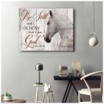 Be still and know that I am God Psalm 46:10 Horse Poster Gift For Horses Lovers God Believers Poster