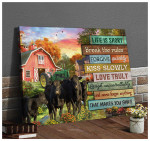 Life Is Short Break The Rules Cows Canvas Poster gift for Cows Lovers Farmhouse Owners Farmers Poster