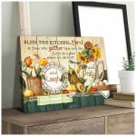 Bless this Kitchen lord and those who gather dragon flower Wall Art Decor poster canvas best gift for jesus lover Poster