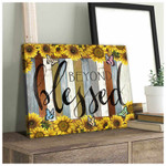 Beyond Blessed Sunflowers Butterlies Poster gift for God Jesus Christian Believers Poster