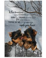 Yorkshire when tomorrow start without me don t think we far apart for every time you memorial poster canvas gift for loss of pet Poster