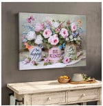 Be Happy Be Kind Be You Wall Art Decor poster canvas best gift for butterfly lovers Poster