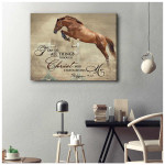 I can do all things through christ who strengthens me flying horse in farmhouse poster canvas gift for farmers jesus prayers Poster