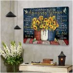 I still believe in amazing grace the old rugged cross stunning sunflowers & hummingbird poster canvas gift for jesus prayers Poster