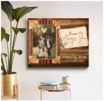 It was always you personalized wedding anniversary poster canvas gift for married couple with custom names & photo Poster