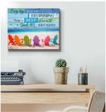 New Beginning Beach Canvas Wall Art Decor poster canvas best gift for beach lovers Poster