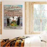 I choose you without pause a doubt personalized hereford cows anniversary poster canvas gift for couple with custom names & date Poster