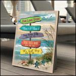 Beach wood road direction our love story custom name and date poster canvas gift for couple Poster