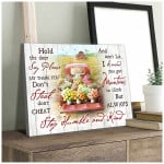Hold the door say please stay humble and kind floral pickup truck in farmhouse poster canvas gift for farmers Poster