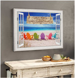And I Think To Myself Wonderful Word Beach Motivational Poster gift for Beach Lovers Poster
