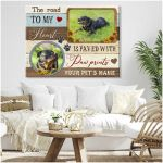 Personalized Sunflowers The Road To My Heart Wall Art Decor poster canvas best gift with custom photo and text for dog lovers Poster