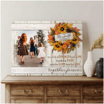 Family is a circle of strength & love together personalized sunflower poster canvas gift for loved family with custom name & photo Poster