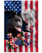 Schipperke Proud Nation A dog with an image of the American flag eagle poster canvas best gift for dog lovers Poster