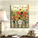 Today I choose joy beautiful flowers & hummingbirds poster canvas gift for hippie souls Poster
