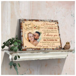 I choose you to do life with hand in hand personalized wedding anniversary poster canvas gift for couple with custom names photo & date Poster