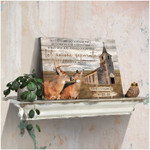 Matthew bible chruch buck and doe custom couple name poster canvas gift for couple Poster