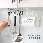 ✅Under-Cabinet Hanger Rack (6 Hooks)