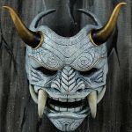 Samurai Assassin Demon White Mask