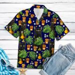 Black Cat Native Tropical T1307 - Hawaii Shirt