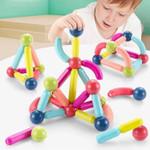 Magnetic 3D Building Sticks