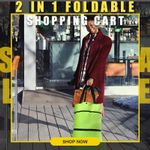 ❤️ 2 In 1 Foldable Shopping Cart
